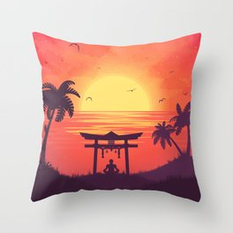 Meditaton Throw Pillow
