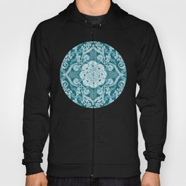 Centered Lace - Teal  Hoody