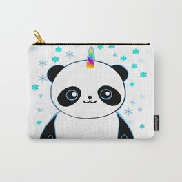 Pandacorn in the Snow Carry-All Pouch