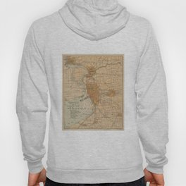 Vintage Map of Buffalo NY (1893) Hoody