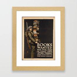 Vintage poster - Books Wanted Framed Art Print