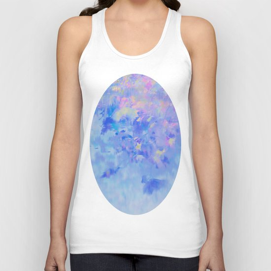 Blue Leaves under a Lavender Sky Unisex Tank Top