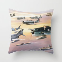 Navy Historic Squad Throw Pillow