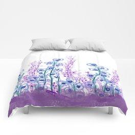 Astract Water Flowers Comforters