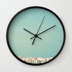 Mediterranean Skyline Wall Clock