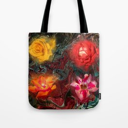Bouquet Abstraction Series  Tote Bag