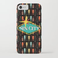 sin city iPhone & iPod Cases featuring Sin City by Chelsea Dianne Lott