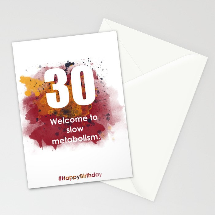 AgeIsJustANumber-30-SunriseSpotA Stationery Cards