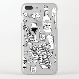 Alcohol Doodles Clear iPhone Case
