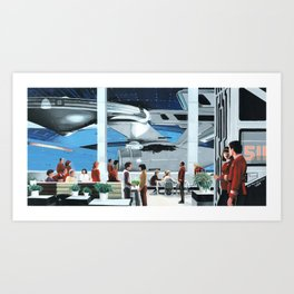 Spacedock Art Print