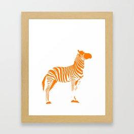 Animals Illustration Zebra Framed Art Print