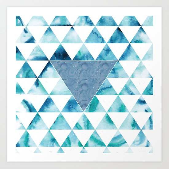 Triangle Sky Art Print