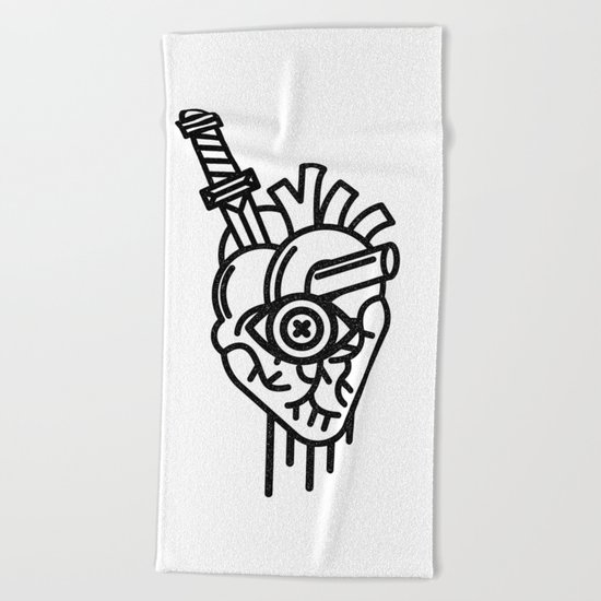 WOUNDED LOVER Beach Towel