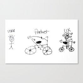 UX/UI Bike Sketch - User Experience Rocks Canvas Print