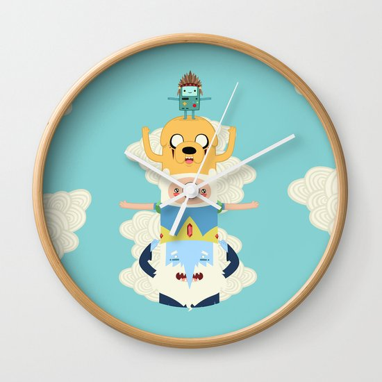 Adventure Totem Wall Clock