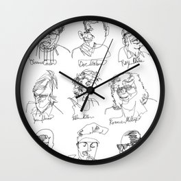 Blind Contours, Blind Heroes Wall Clock