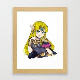Zelda from Super Smash Bros Ultimate Framed Art Print