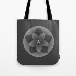 Black Blossom Tote Bag