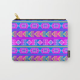 Colorful Mexican Aztec geometric pattern Carry-All Pouch