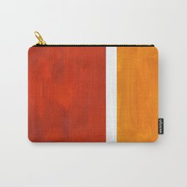 Burnt Orange Yellow Ochre Mid Century Modern Abstract Minimalist Rothko Color Field Squares Carry-All Pouch