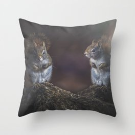Forest Twins Throw Pillow