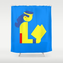 Wonder Lady Reading Shower Curtain