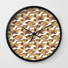 Desert camo 2 Wall Clock