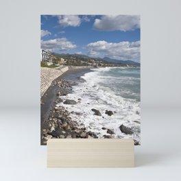 STONE-BEACH  Sicily Mini Art Print