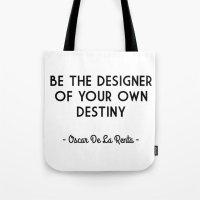 destiny Tote Bags featuring Destiny by I Love Decor