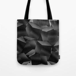 Black Fade Cubes Tote Bag
