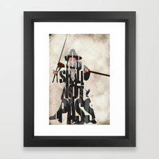 Gandalf - The Lord of the Rings Framed Art Print