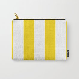 Retro 60s Big Surf Yellow Stripe Pattern Carry-All Pouch