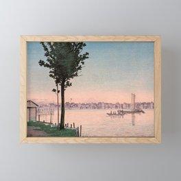 Inoue Yasuji - Fuji view Ferry Framed Mini Art Print