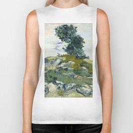 The Rocks by Vincent van Gogh Biker Tank