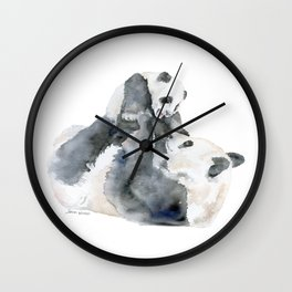 Mother and Baby Panda Bears Wall Clock
