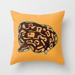 Pastel Ball Python Throw Pillow