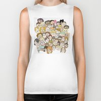 it crowd Biker Tanks featuring Crowd by cmdonodraws