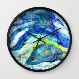 Geometric Wave Wall Clock