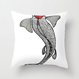 Tancho Koi Throw Pillow