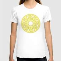 magic the gathering T-shirts featuring Magic the Gathering, Neon White Mana by Thorn Blackstar