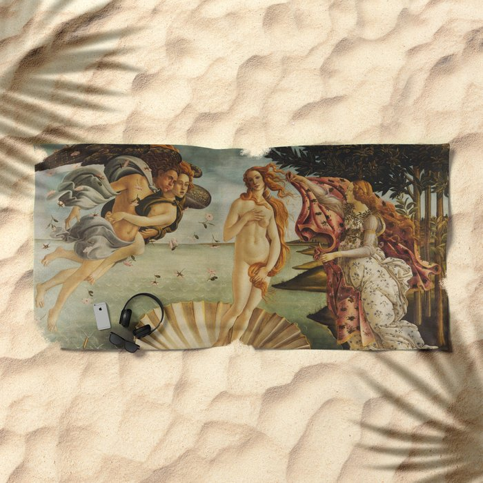 The Birth of Venus by Sandro Botticelli Beach Towel