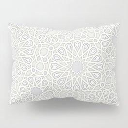 White Moroccan Tiles Pattern Pillow Sham