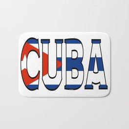 Cuba Font with Cuban Flag Bath Mat