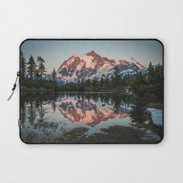 Cascade Sunset - Mt. Shuksan - Nature Photography Laptop Sleeve