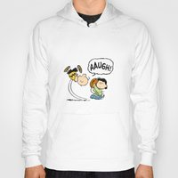 charlie brown Hoodies featuring Charlie Brown Foot Ball by PSimages