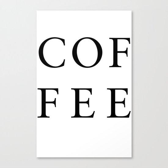 #COFFEE Canvas Print