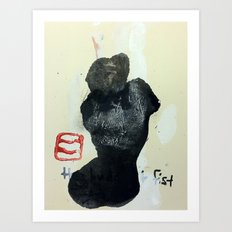 THE BUDDHIST FIST Art Print