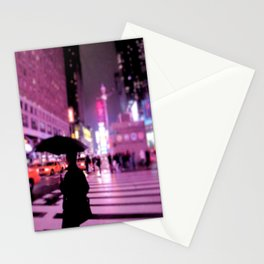 Rainy Night Stationery Cards