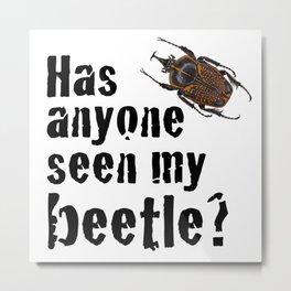 Beetle Search Metal Print