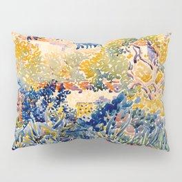 """Henri-Edmond Cross """"The Artist's Garden at St. Clair"""" Pillow Sham"""